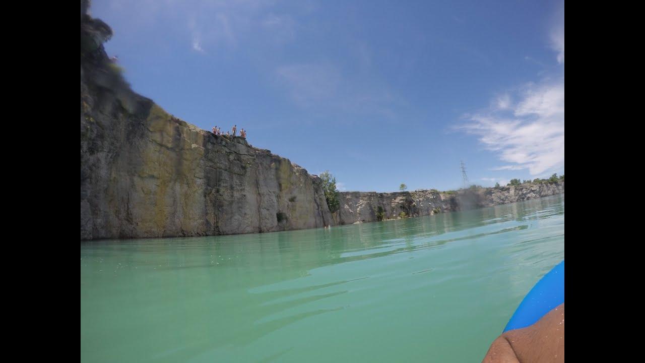 Peebles Ohio Cliff Jumping, 60ft!   TravelerBase   Traveling