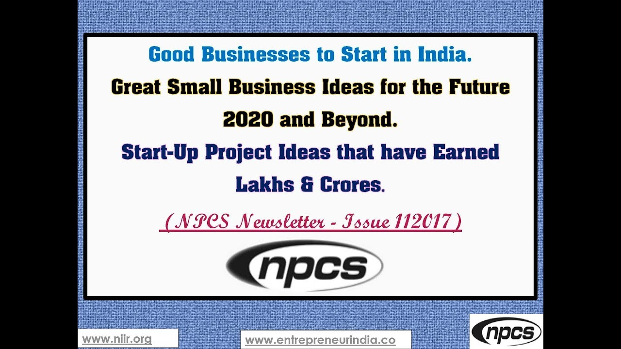 Good Businesses To Start In India Great Small Business Ideas For The Future  And Beyond