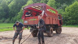 IFA Буксирует Nissan Patrol на базу порвался ремень грм  Offroad Mammutpark