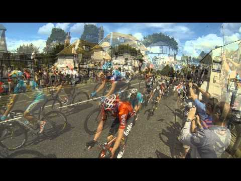 Tour de France 2014 Cambridge to London stage 3 close action ride by