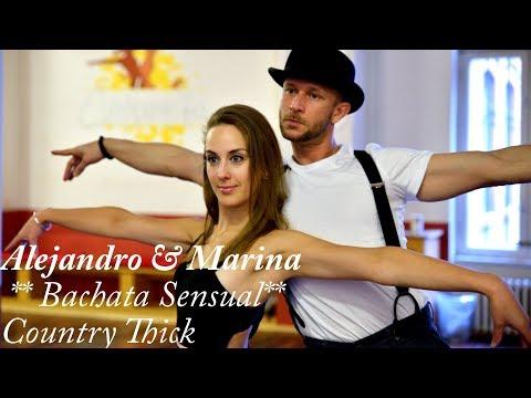 Dance Choreography ~ Bachata Fusion: Alejandro Peca|Marina Sol (RnB/Bachata Country Thick)