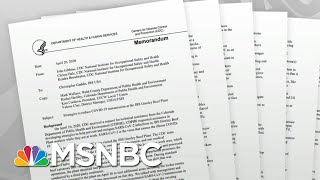 Marked Change In Tone In CDC Meat Plant Reports Raises Questions | Rachel Maddow | MSNBC