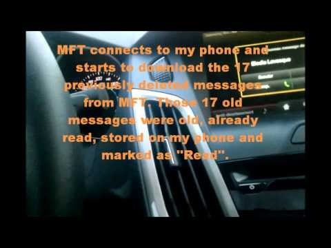 Ford Focus 2012; MFT text message bug