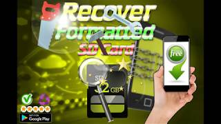 Recover Formatted SD Card (How to Recover my deleted videos & Photos on SD Card android)