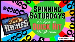 100 Spins on Quick Hit! ✦ SPINNING SATURDAYS ✦  EVERY SATURDAY Slot Machine Pokies in Vegas/SoCal