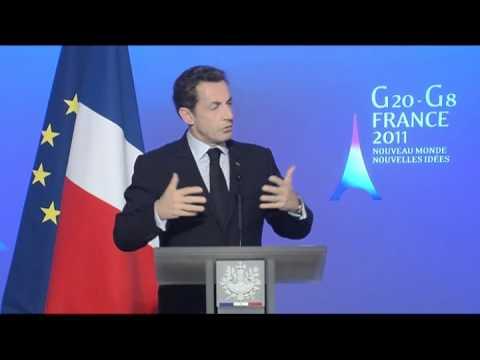 G20-G8 : conférence de presse de Monsieur Nicolas Sarkozy