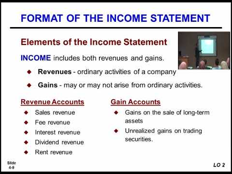 المحاضرة(7)  Income Statement and Related Information / أ  ليث