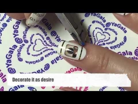 Social logo and news paper nails / Иконки соц. сетей и газетный маникюр