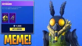 MEME SKINS IN FORTNITE... Fortnite ITEM SHOP (November 29) NEW MOTHMANDO SKIN in item shop!!