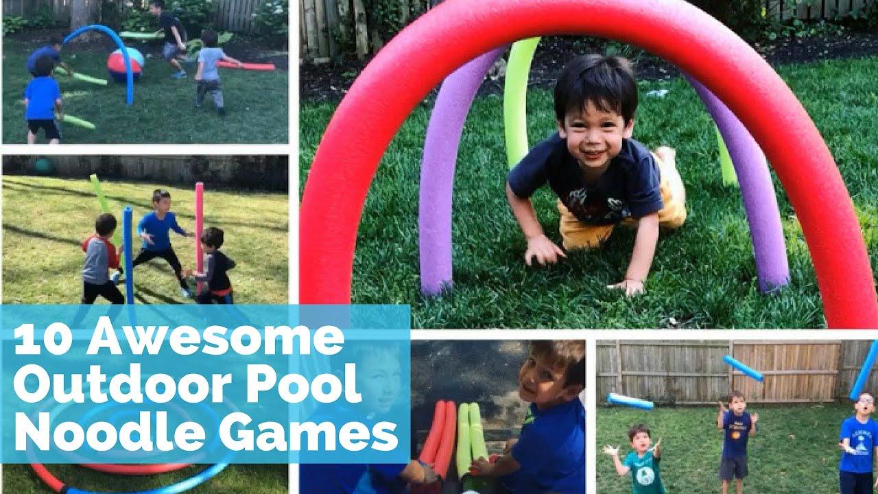 Diy Outdoor Games For Summer Best Pool Noodle Games For Kids