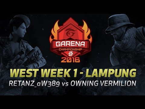 PBGC West W1 Lampung : RETANZ_aW389 vs OWNING VERMILION