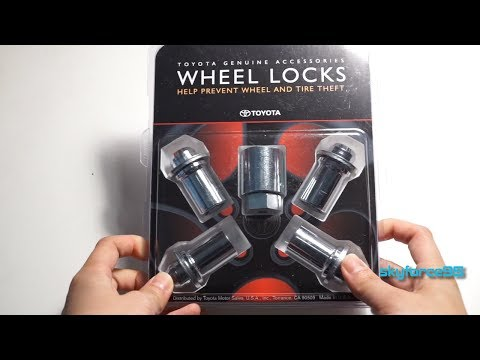 Toyota 00276-00901 Wheel Lock Unboxing & Review
