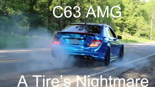 LOUD, Chrome and Slammed Mercedes C63 AMG Review!