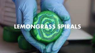 The Making of Lemongrass Spirals Bubble Bar