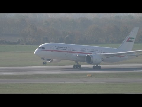 RARE! U.A.E. Government (Abu Dhabi Amiri Flight) B787-8 I Take Off @ Vienna Airport I A6-PFC