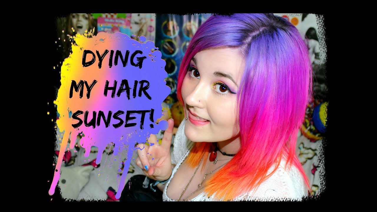 Dying My Hair Sunset Colours ☼ Youtube