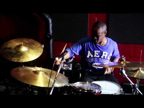 Drums - Anthony Burns Plays Drums @ GospelChops.com