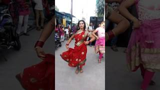 Durga puja by Beautifuly kinnar people dancing in Odisha