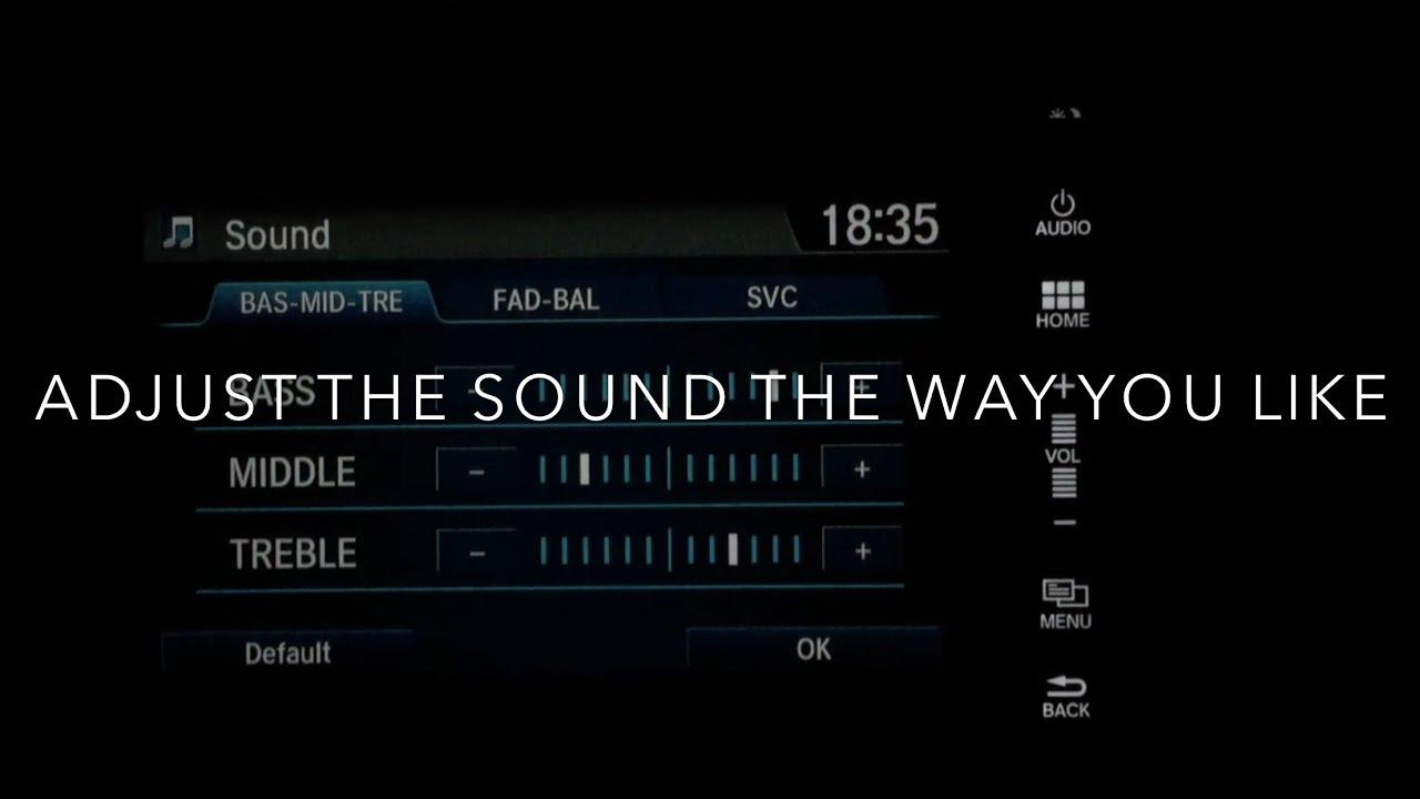 How to adjust audio sound quality (equalizer) Honda Car