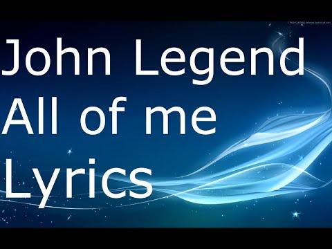 John Legend - All of me lyrics original + download link