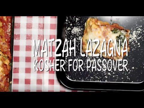 Matzah Lazagna Kosher for Passover