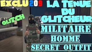 GTA 5 Online : - [ EXCLU ] - LA TENUE DU GLITCHEUR MILITAIRE HOMME SECRET OUTFIT - NEW GLITCH STYLE