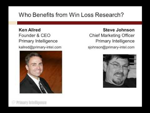 Who Benefits from Win Loss Analysis