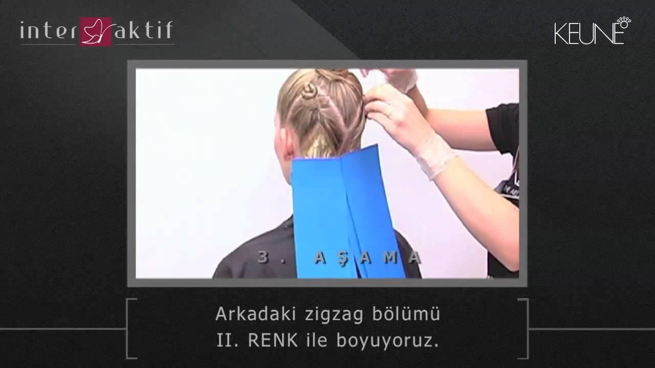 Saç Boyama Teknikleri Zigzag Açık Sarı Kestane Yaz Rüzgarı Youtube