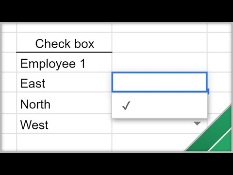 Google Sheets - Create Drop Down Lists And Check Boxes