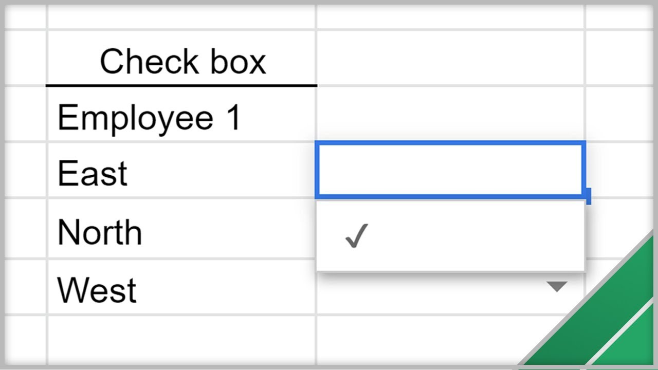 google sheets create drop down lists and check boxes youtube