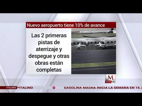Nuevo aeropuerto tiene 10% de avance