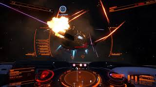Elite Dangerous Taking on Wing Assassination Mission with my Son