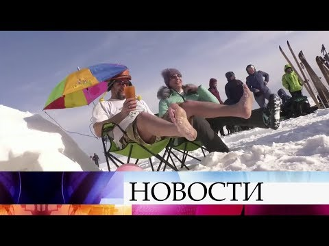 Жители Новосибирска соревновались в строительстве иглу.