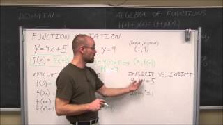 College Algebra: Functions & Function Notation