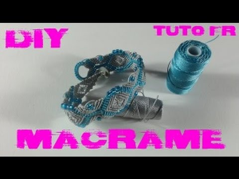 diy tuto fr bracelet maillons en macram youtube. Black Bedroom Furniture Sets. Home Design Ideas