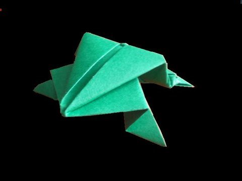 Papercraft Origami: jumping frog