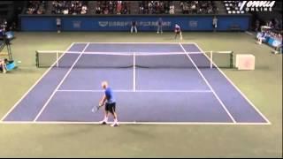 Kei Nishikori vs McEnroe - Nissin Dream Tennis 2013