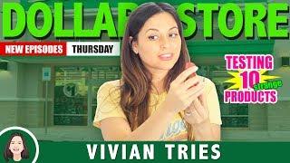 10 WEIRDEST DOLLAR STORE ITEMS!!!  |  VIVIAN TRIES