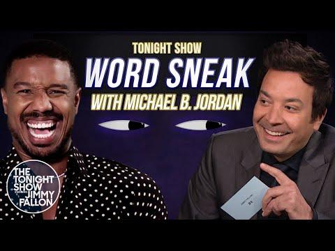 Word Sneak with Michael B. Jordan | The Tonight Show Starring Jimmy Fallon