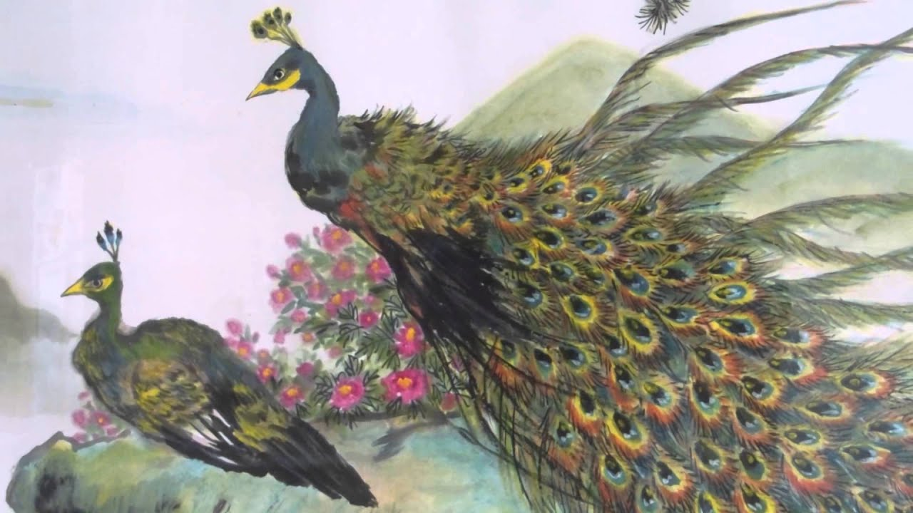 Chinese Peacock Painting