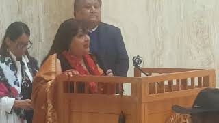 NDIAN DAY – NM STATE LEGISLATURE  2019 - Patricia Michaels - Designs to honor MMIW