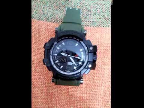 6da583ee56a Relógio g-shock- 04 preto  pulseira verde. - YouTube
