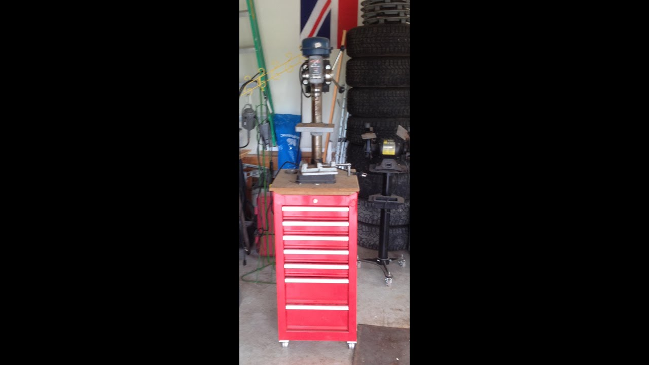 Drill Press Stand For Bench Top Drill Press Youtube