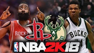 HOUSTON ROCKETS vs MILWAUKEE BUCKS - NBA PREDICTOR - NBA 2K18