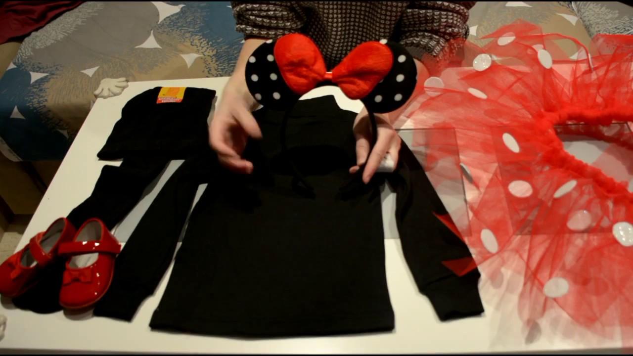 DIY: Disfraz Minnie Mouse / Tutorial Tutu sin coser / Carnaval Halloween /  Bebe Niña - YouTube