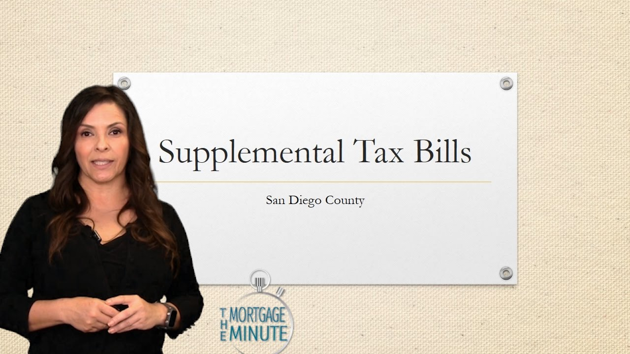 What Is This Extra Tax Bill I Got Supplemental Tax Bills Explained Youtube