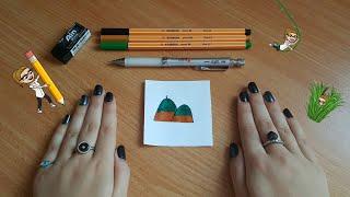 איך לצייר הר מהאות ה