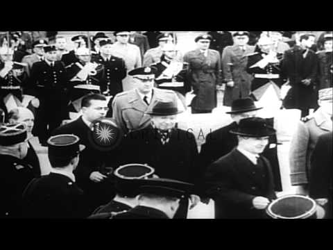 Space and aeronautics events in 1957 including Sputnik 2 launch with dog Laika, U...HD Stock Footage