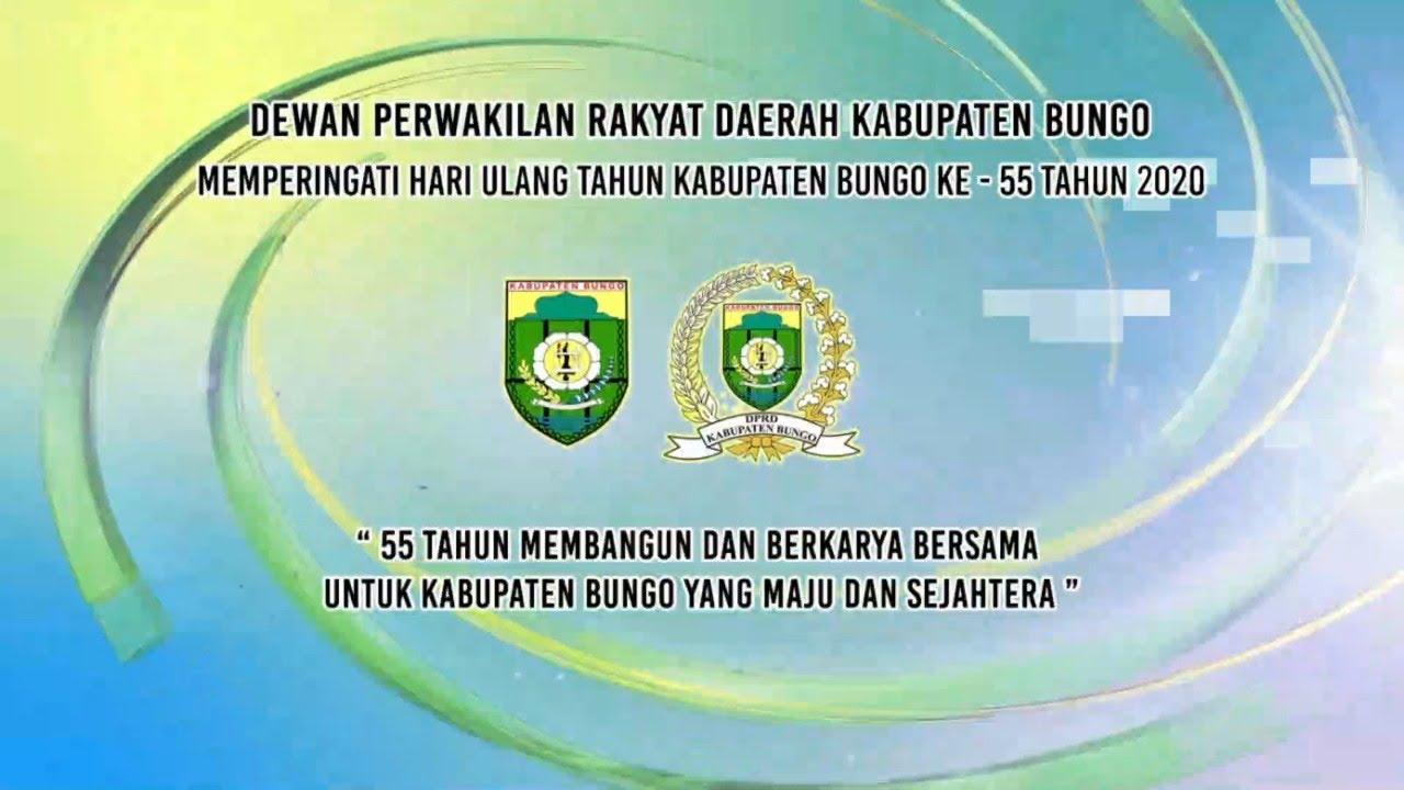 Live Dprd Kabupaten Bungo Memperingati Hari Ulang Tahun Ke 55 Kabupaten Bungo Tahun 2020 Youtube