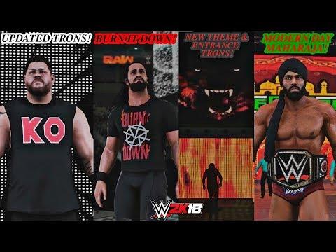 WWE 2K18 Updated Entrances Trons & Themes: Kevin Owens, Jinder Mahal, Baron Corbin & Seth Rollins!